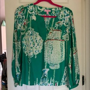 Lilly Pulitzer silk swingers top
